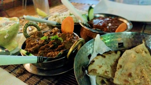 Curries in an Indian restaurant