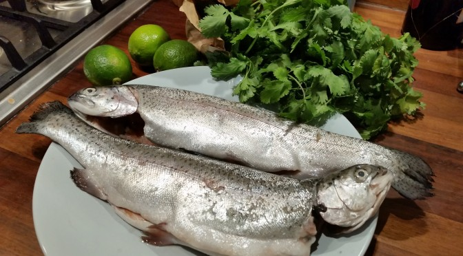 Thai baked rainbow trout