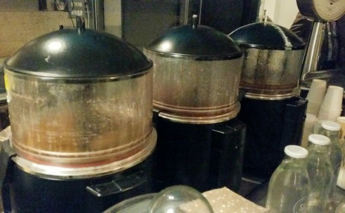 Hot chocolate vats
