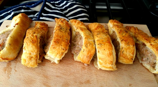 Lazy, delicious sausage rolls